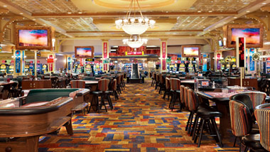 Ameristar Vicksburg Casino floor with table games and slot machines